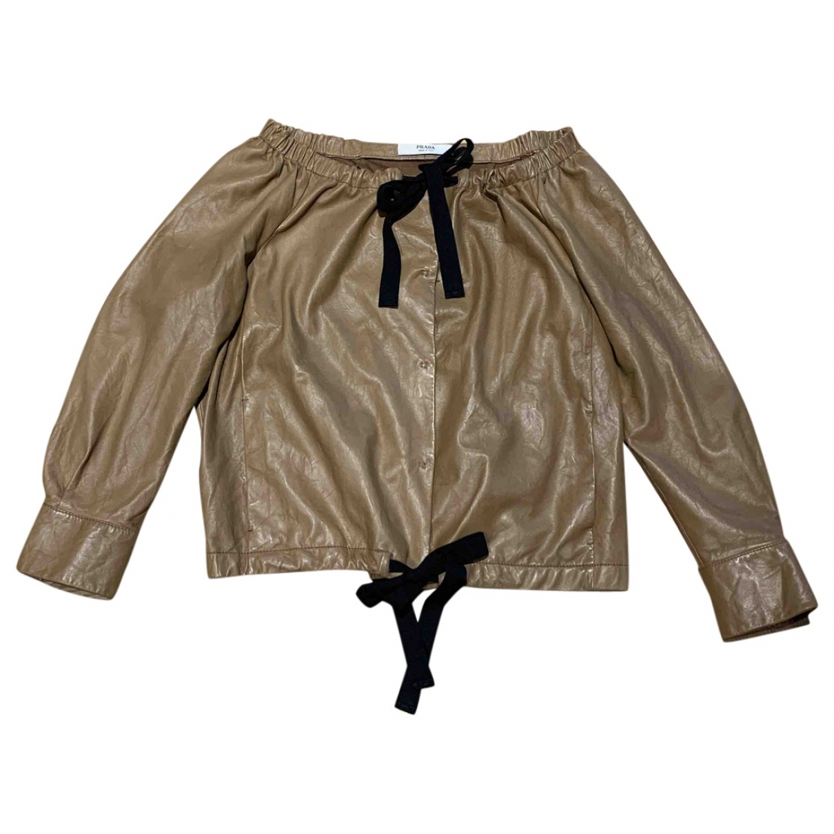 Prada \N Camel Leather Leather jacket for Women 42 IT
