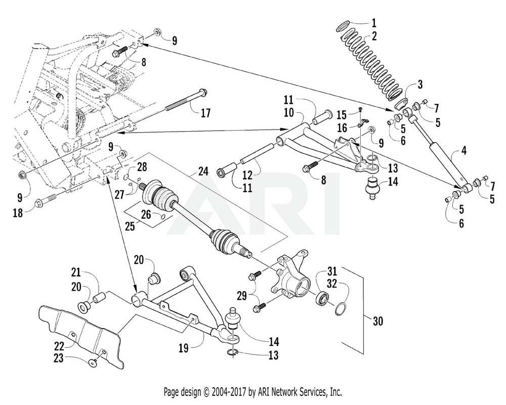 Arctic Cat OEM 0423-723 Screw Cap Hfh M10 1.25X170 Z&Y Cl 10.9