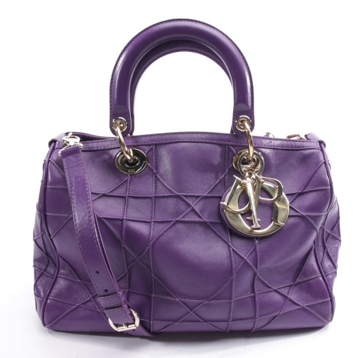 Dior Granville Purple Leather handbag for Women N