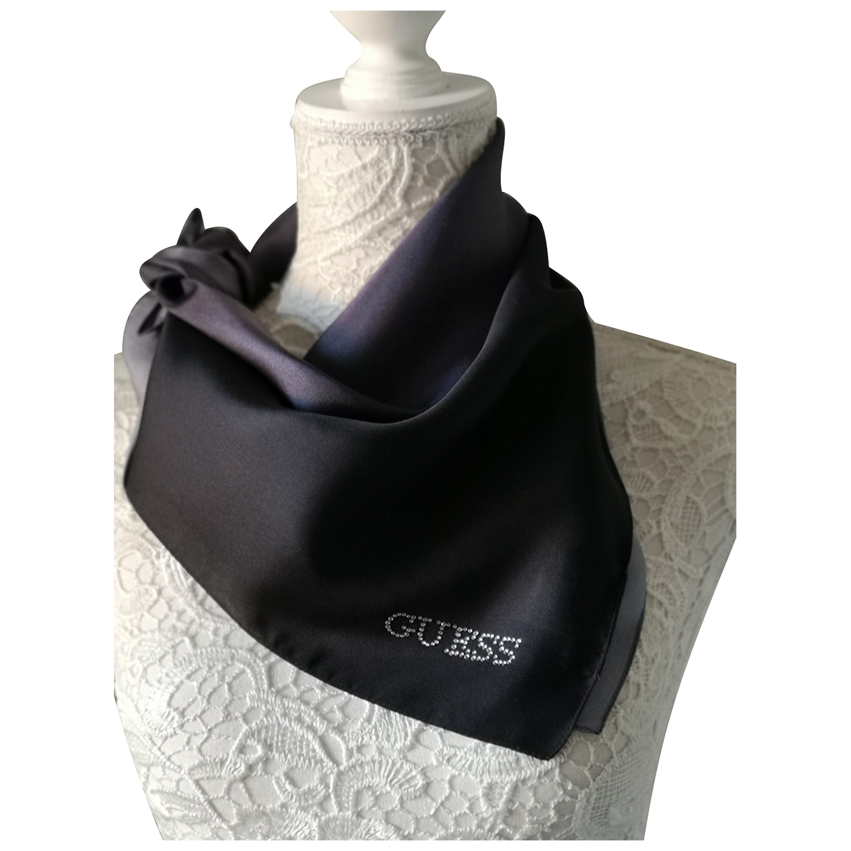 Guess \N Black Silk scarf for Women \N