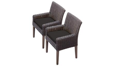 TKC099b-DC-C-BLACK 2 Venice Dining Chairs With Arms - Wheat and Black
