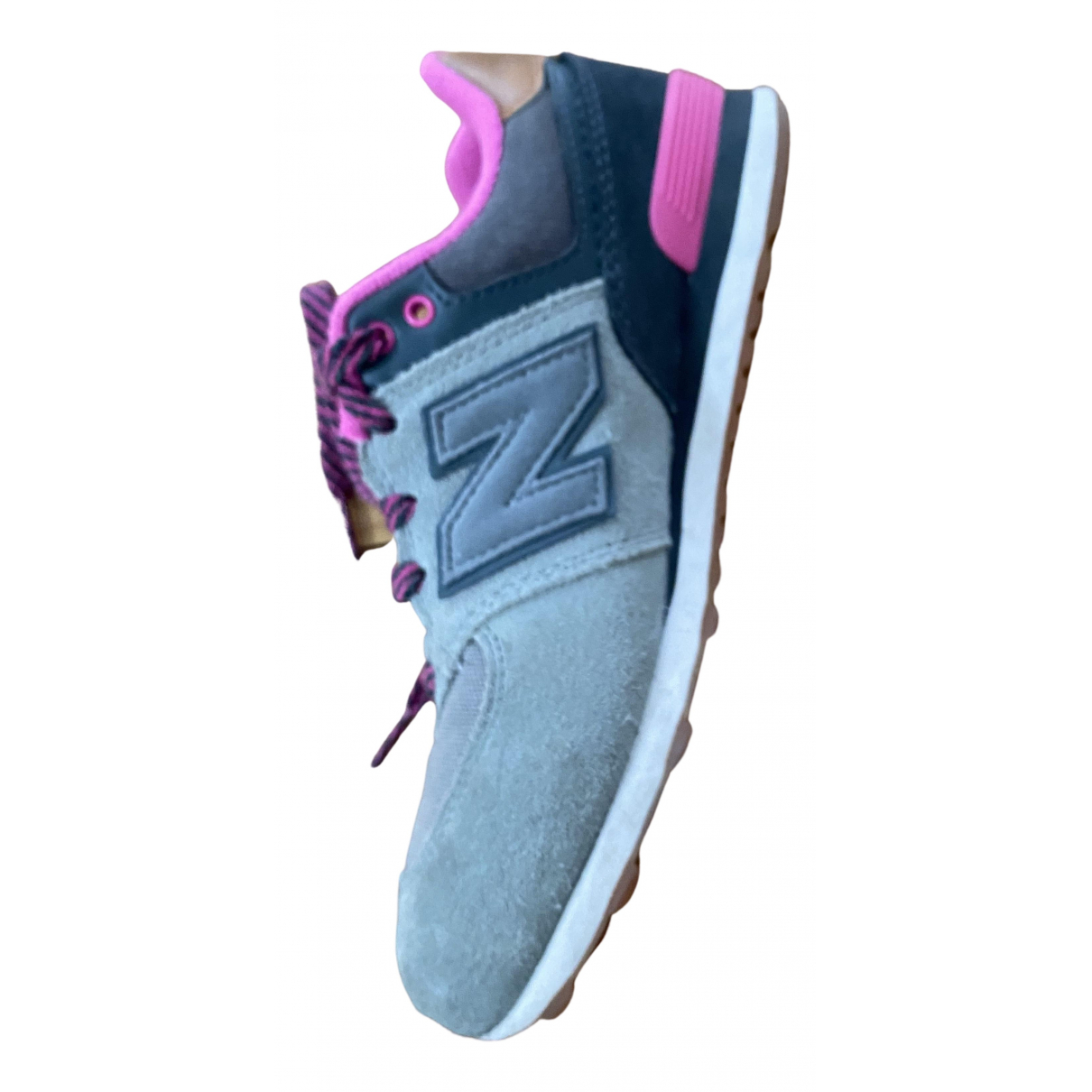 New Balance N Pink Leather Trainers for Women 36 EU