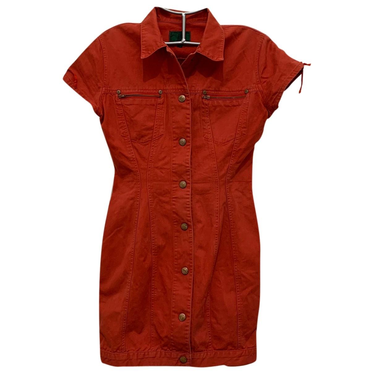 Jean Paul Gaultier \N Red Cotton dress for Women 40 IT