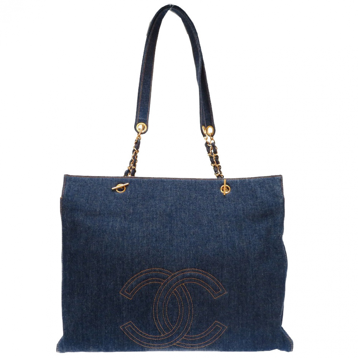 Bolso de mano en Denim - Vaquero Azul Chanel
