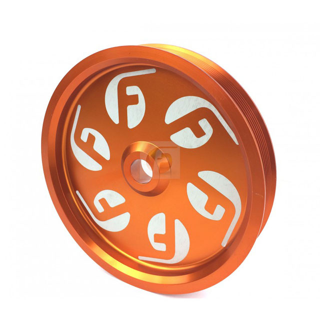 Fleece Performance FPE-34211-ORG Cummins Dual Pump Pulley For use with FPE Dual Pump Bracket Orange