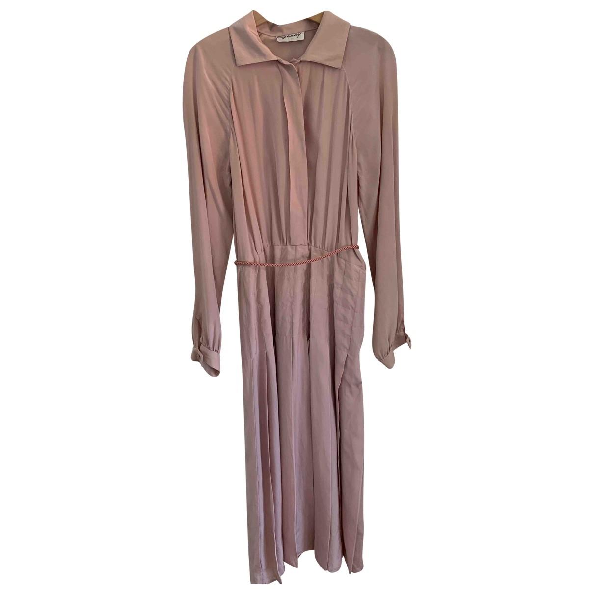 Genny \N Kleid in  Rosa Seide