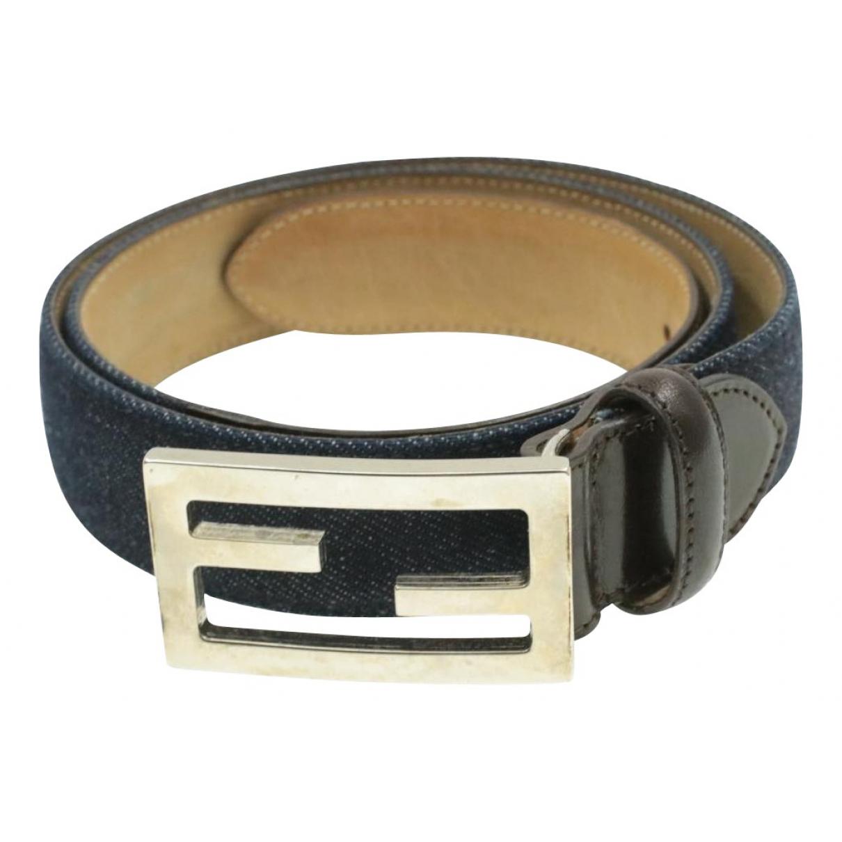 Fendi N Blue Cloth belt for Women 85 cm