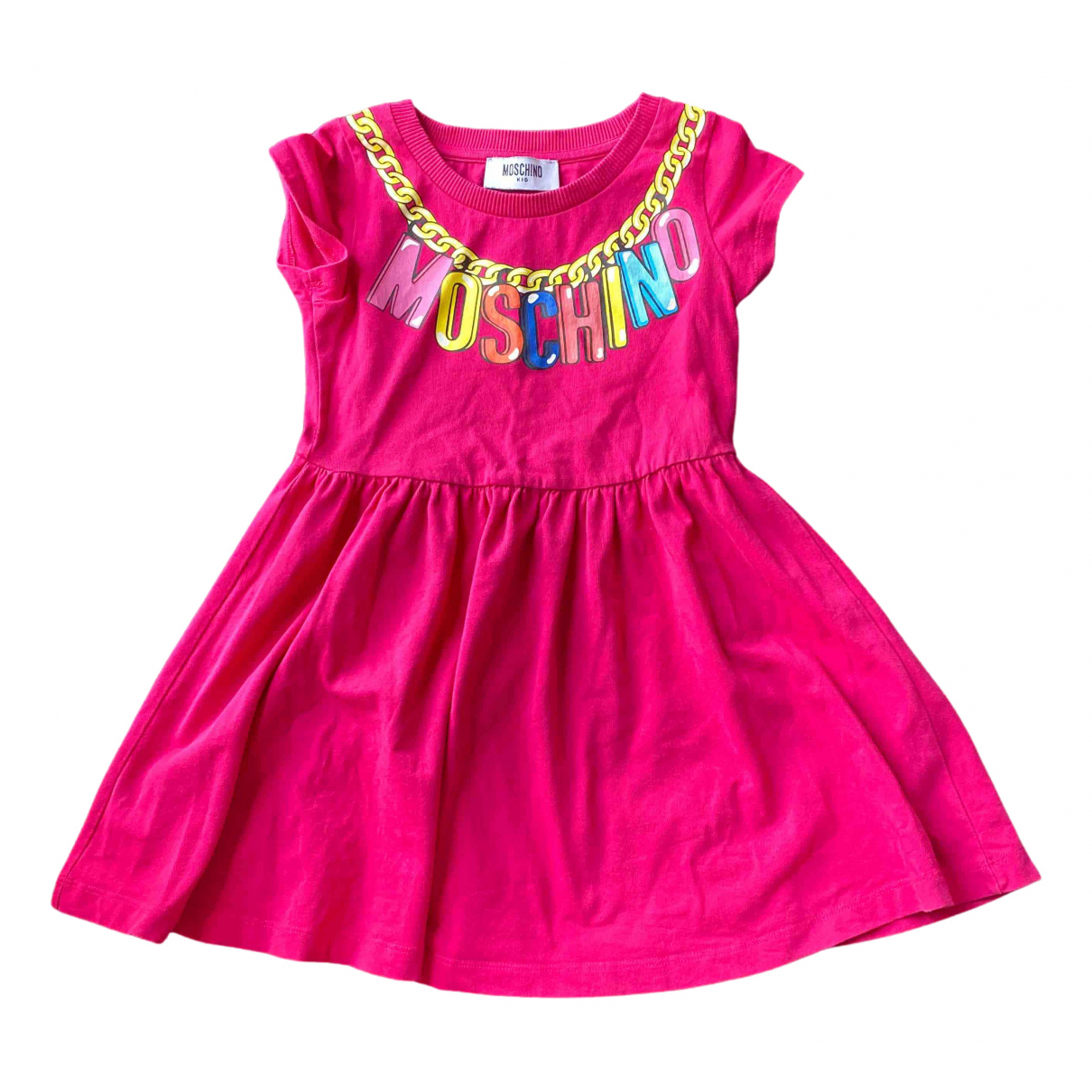 Moschino N Pink Cotton dress for Kids 4 years - up to 102cm FR