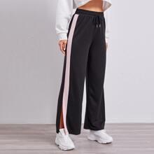 Pantalones Cordon Monocolor Deportivo