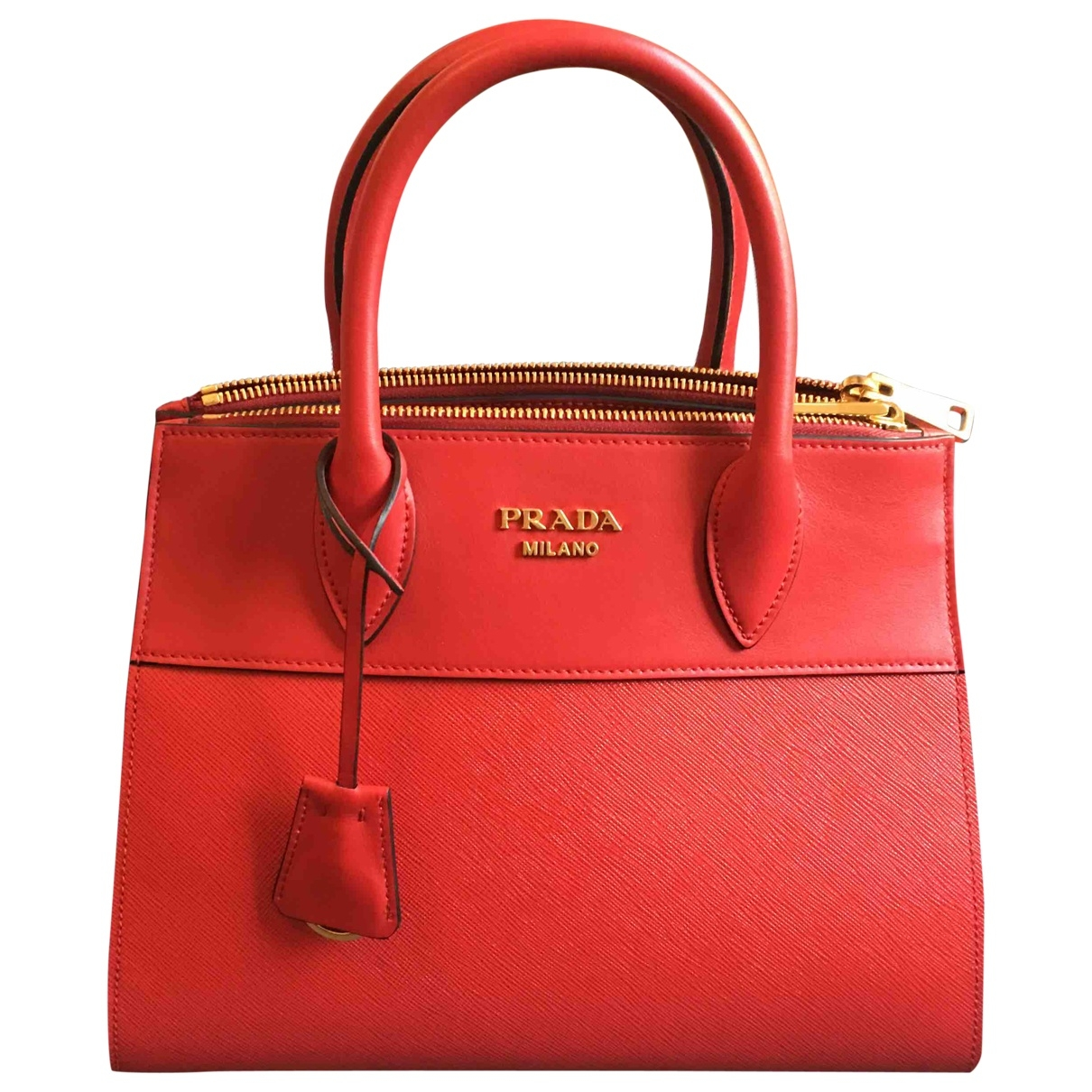 Prada Paradigme Red Leather handbag for Women \N