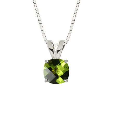 Genuine Peridot Sterling Silver Pendant Necklace, One Size , No Color Family