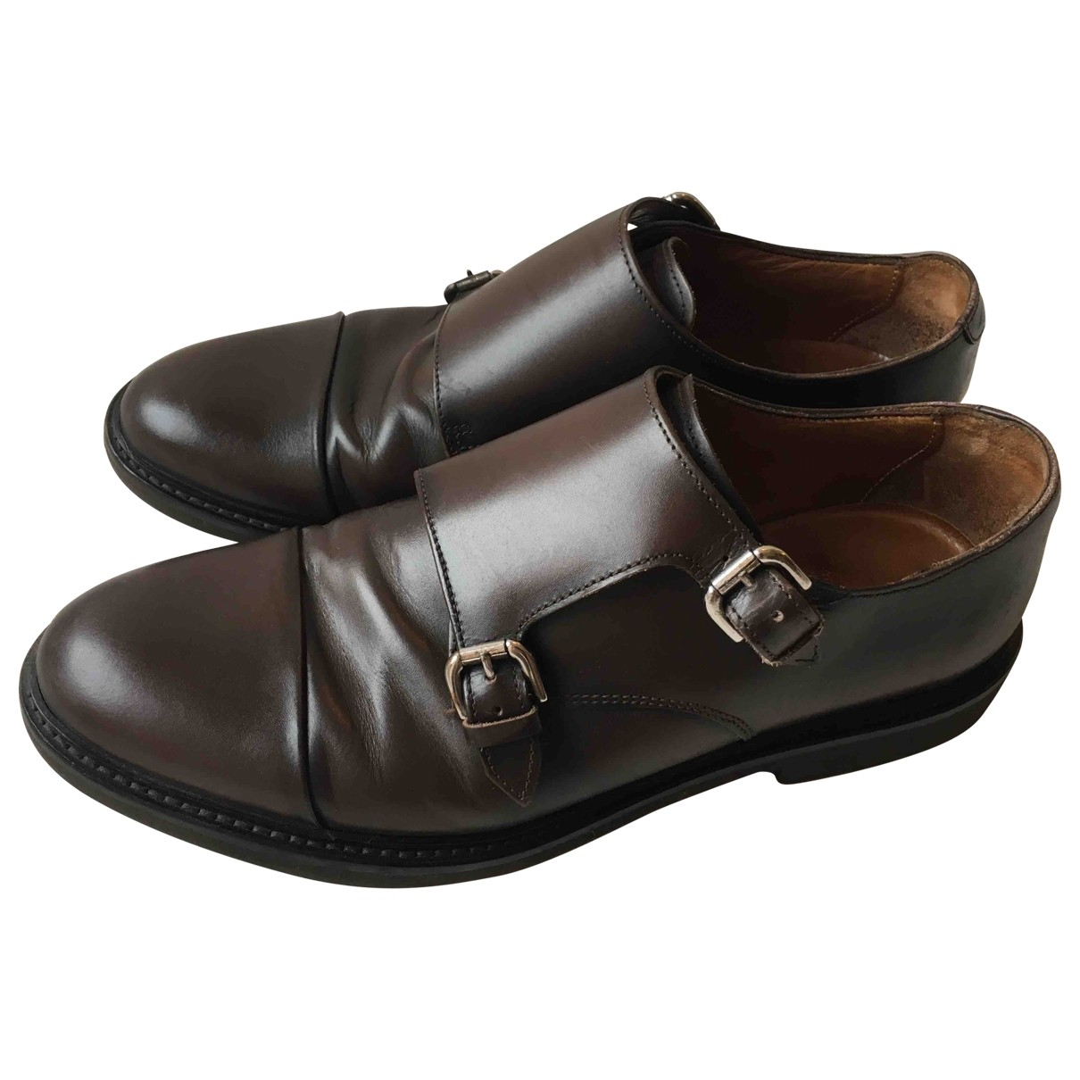 Massimo Dutti \N Brown Leather Lace ups for Men 42 EU