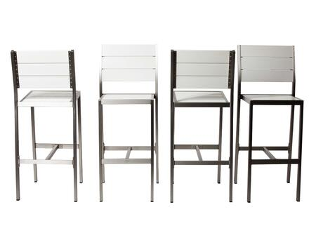 BM172058 Catchy And Heighted Anodized Aluminum Armless Barstools In White (Set of