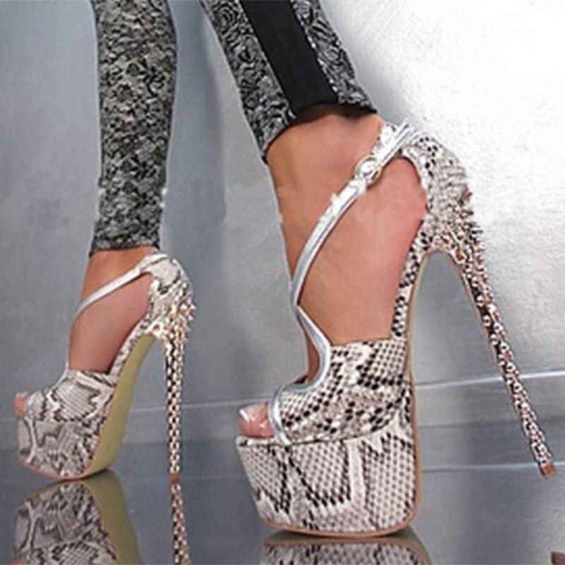 Ericdress Serpentine Peep Toe Platform Stiletto Heel Women's Sandals