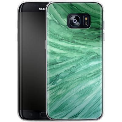 Samsung Galaxy S7 Edge Silikon Handyhuelle - Emerald von Becky Starsmore