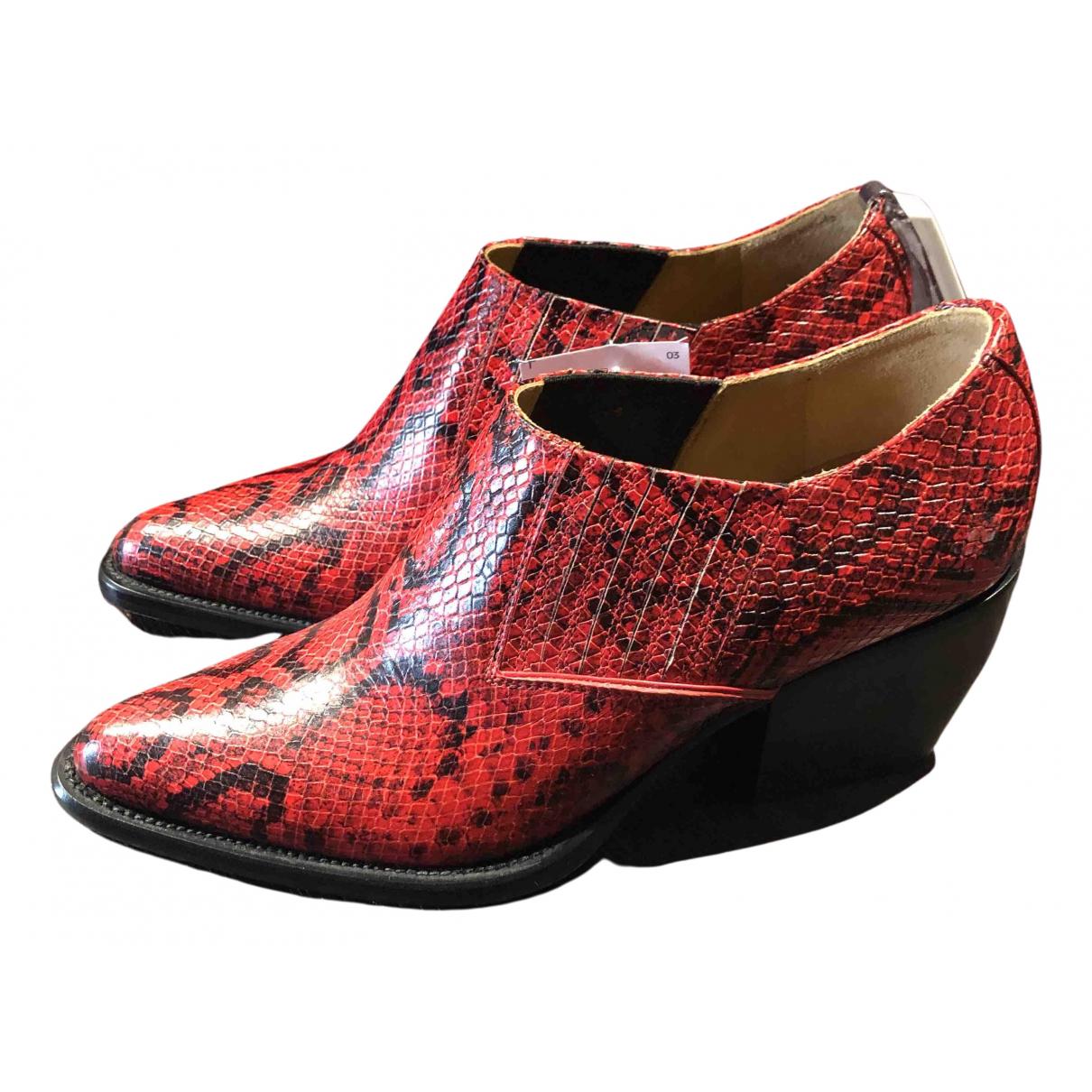 Chloe - Boots Rylee pour femme en cuir - rouge