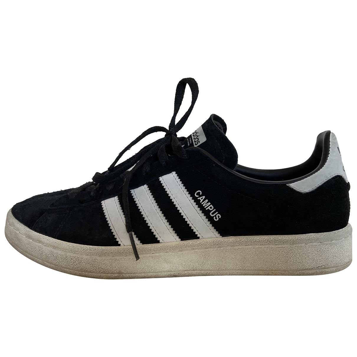 Adidas - Baskets   pour homme en suede - noir