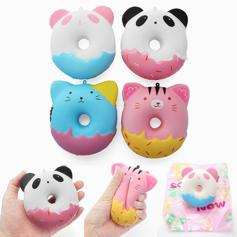 Squishy Cute Animals Donut Toy Sweet Soft Slow Rising With Packaging Collection Gift Decor