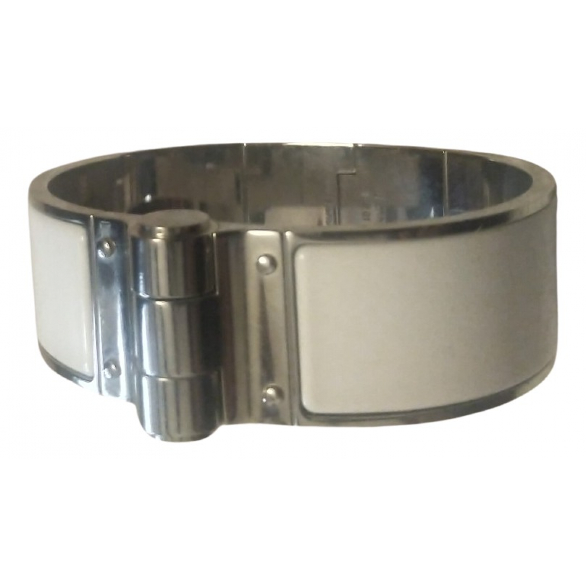 Hermes Bracelet Charniere Armband in  Weiss Silber