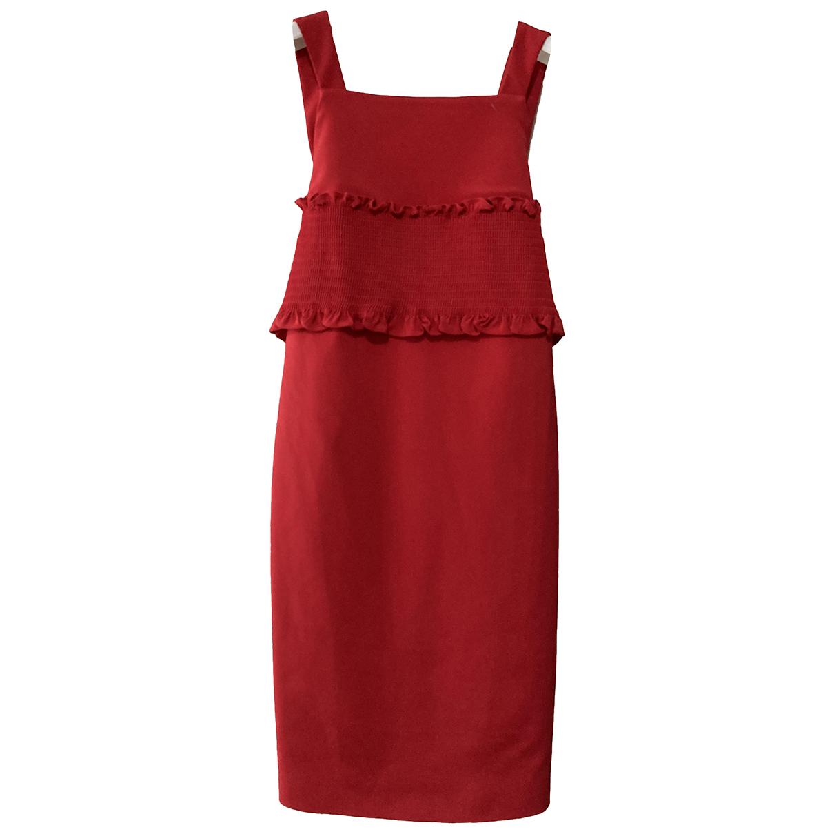 Tibi \N Kleid in  Rot Polyester
