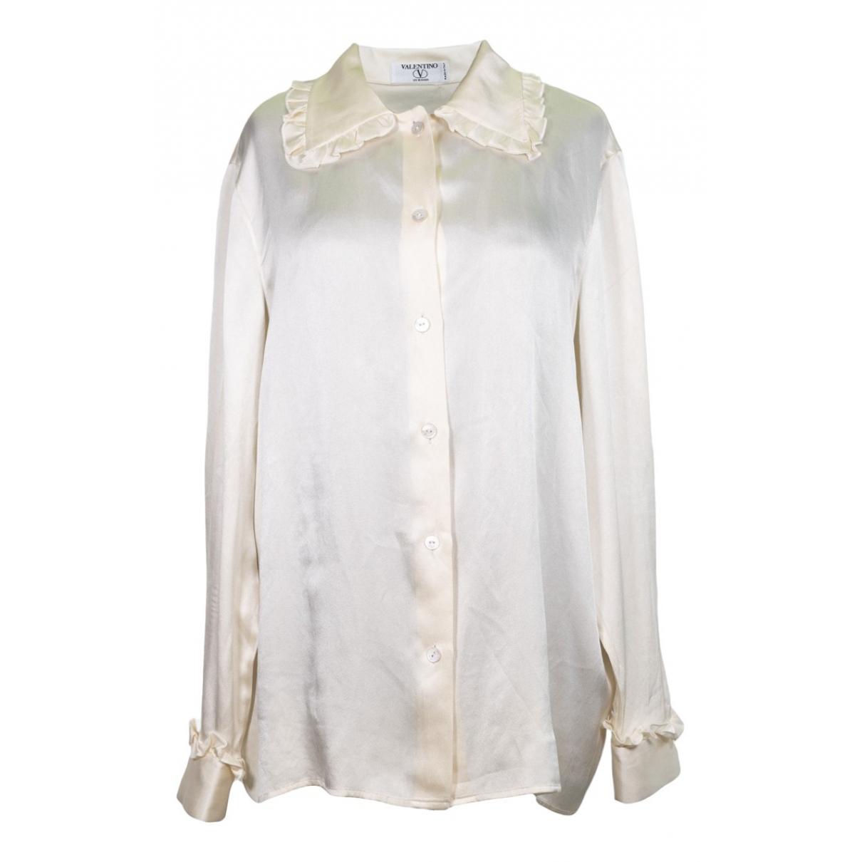 Valentino Garavani \N Beige Silk  top for Women 50-52 IT