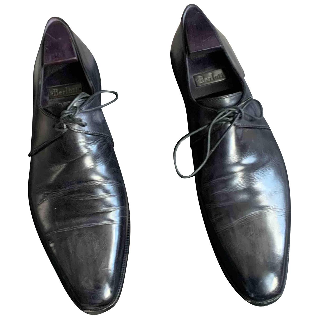 Berluti \N Black Leather Lace ups for Men 41.5 EU