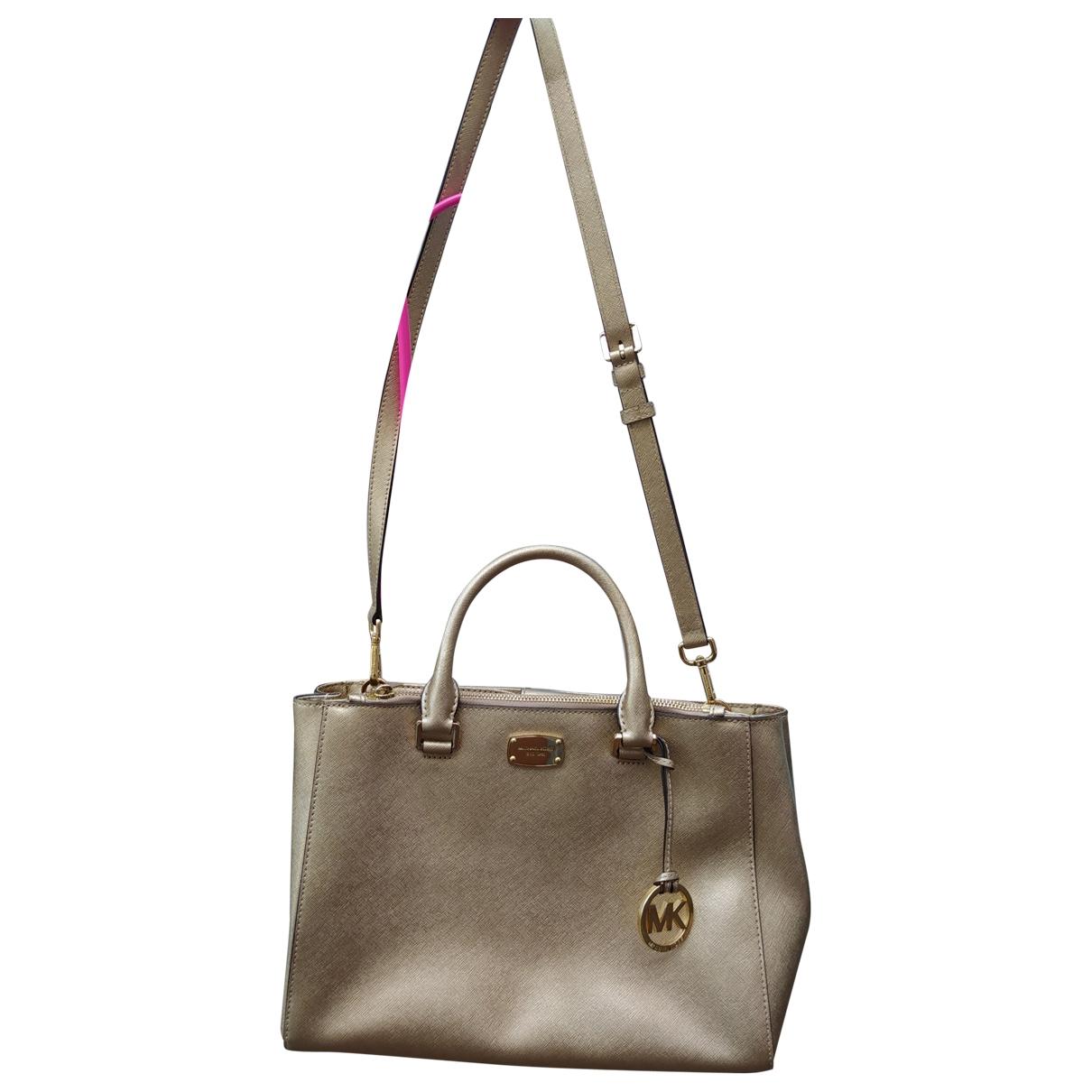 Michael Kors Savannah Handtasche in  Gold Leder