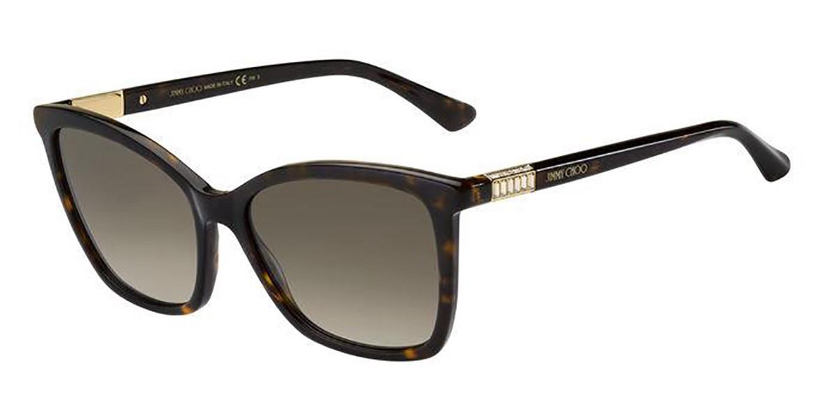 Jimmy Choo ALI/S 086/HA Women's Sunglasses Tortoise Size 56