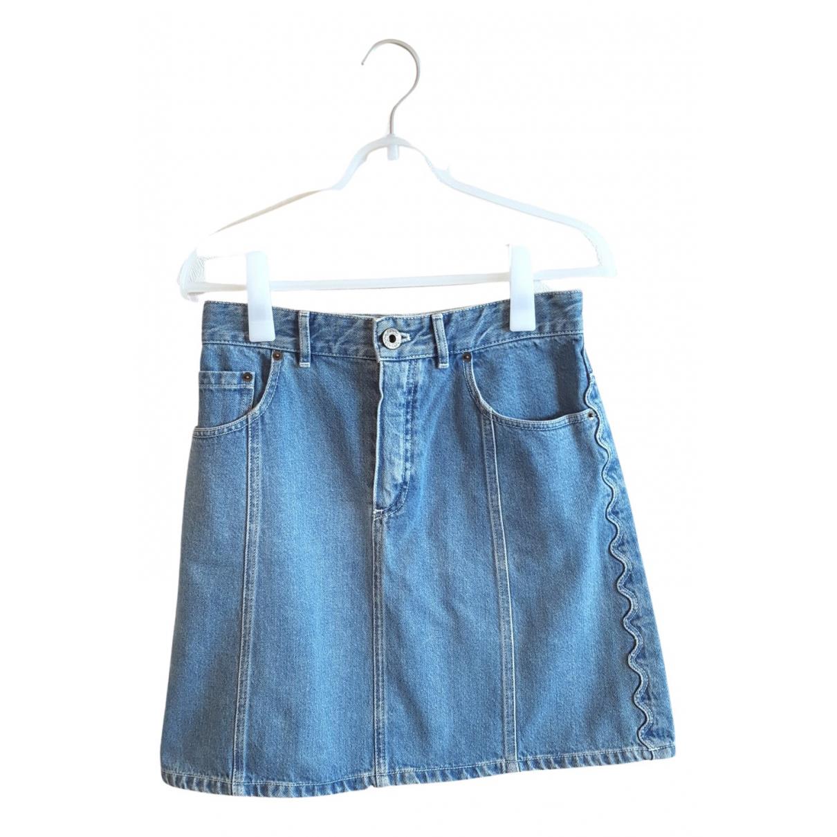 Chloe - Jupe   pour femme en denim - bleu