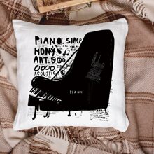 Piano Print Cushion Cover Without Filler