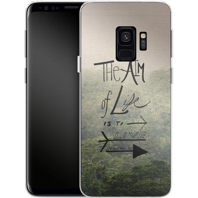 Samsung Galaxy S9 Silikon Handyhuelle - Aim of Life von Leah Flores