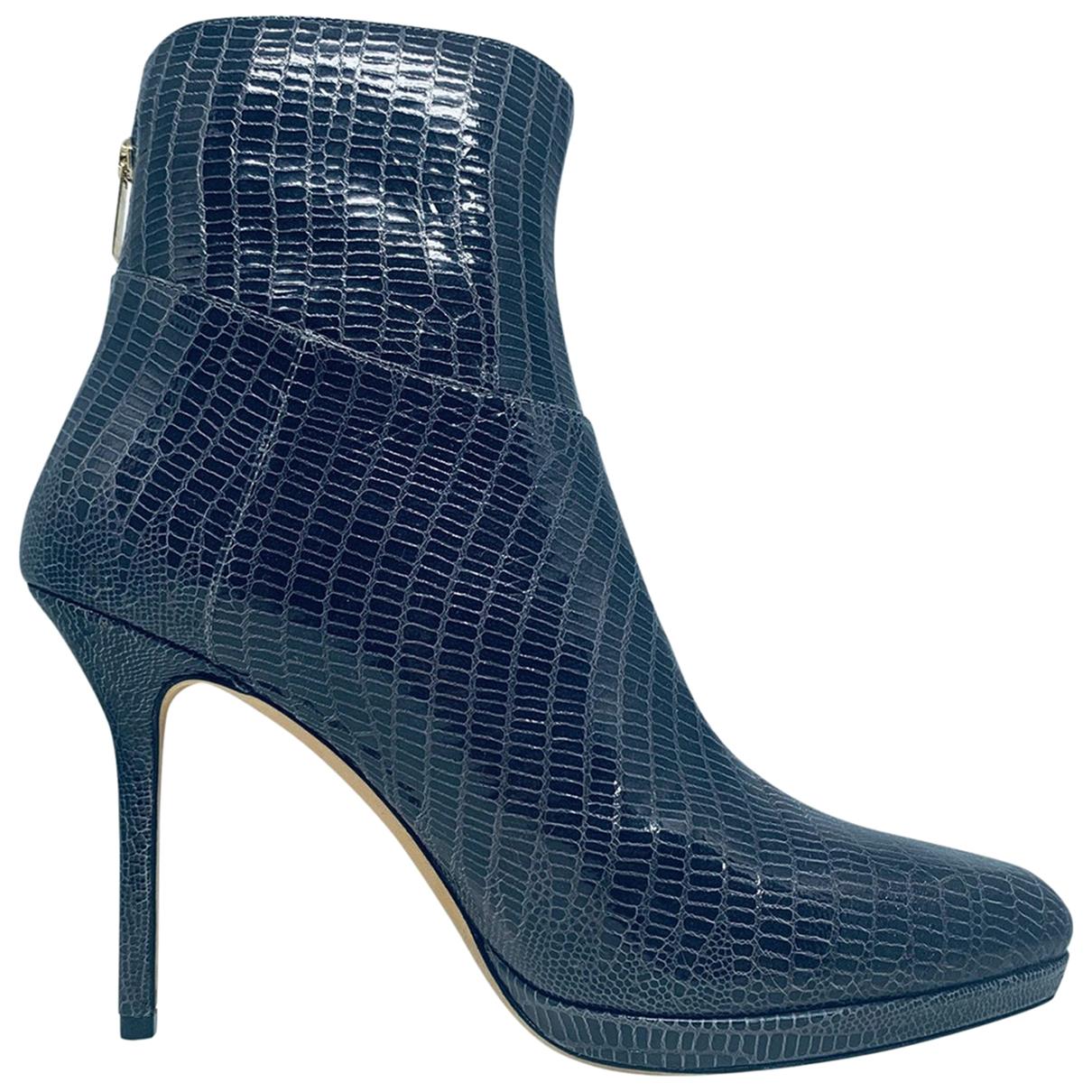 Jimmy Choo - Boots   pour femme en cuir - gris