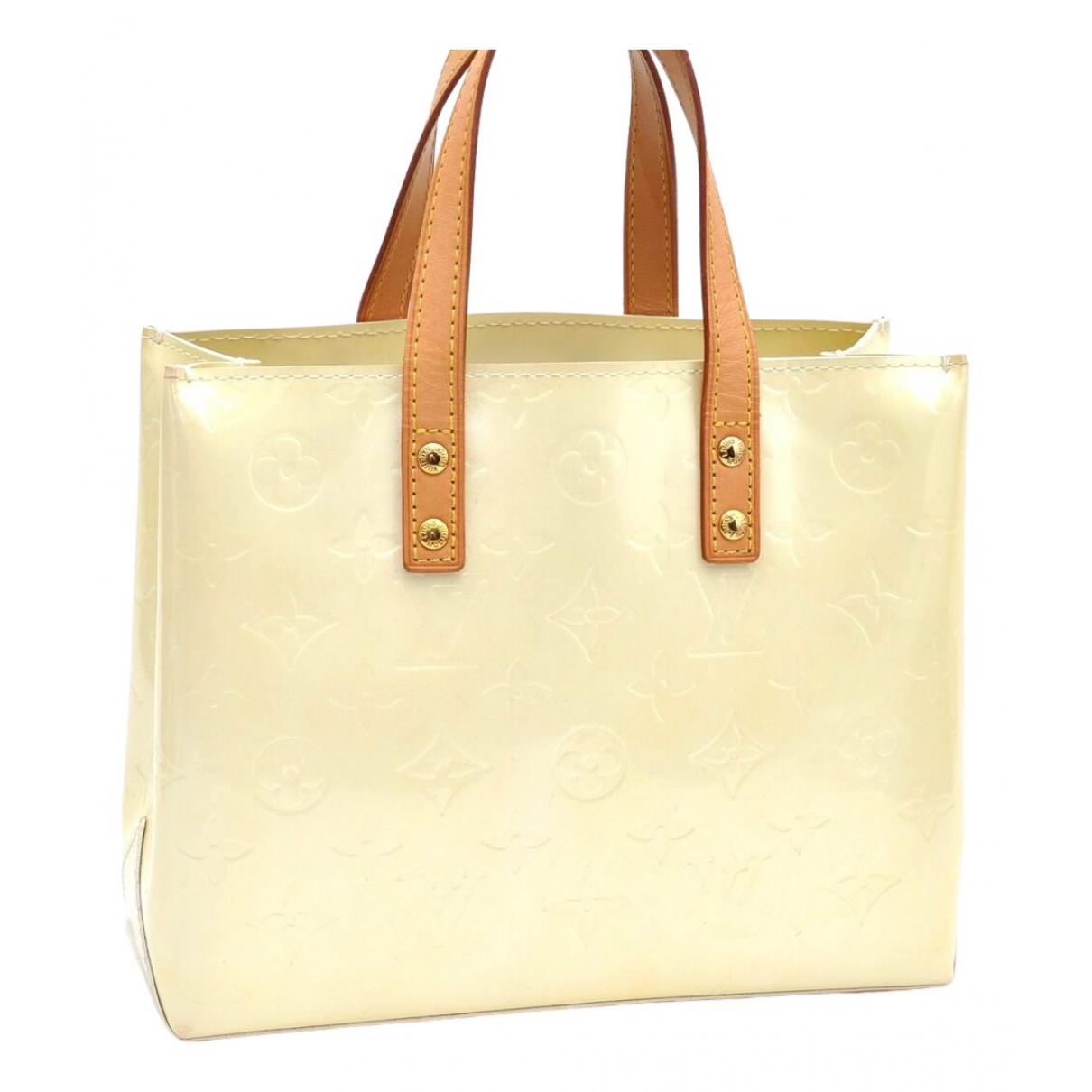 Louis Vuitton - Sac a main   pour femme en cuir verni - camel