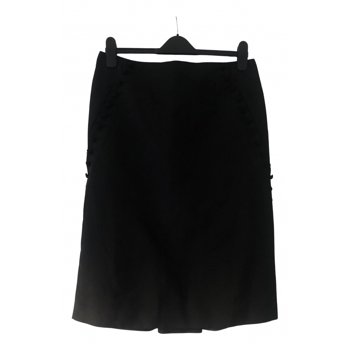 Alexander Mcqueen \N Black Silk skirt for Women 44 IT