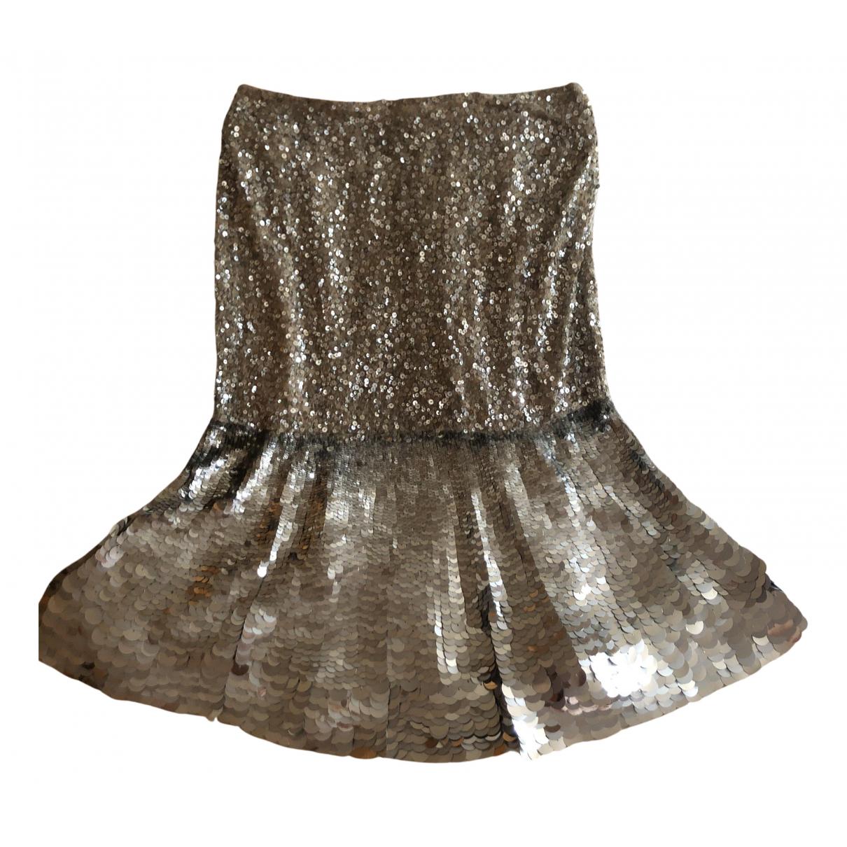 Valentino Garavani N Silver Glitter skirt for Women 38 IT