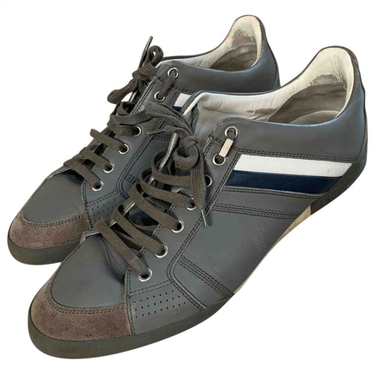 Dior Homme - Baskets   pour homme en cuir - gris
