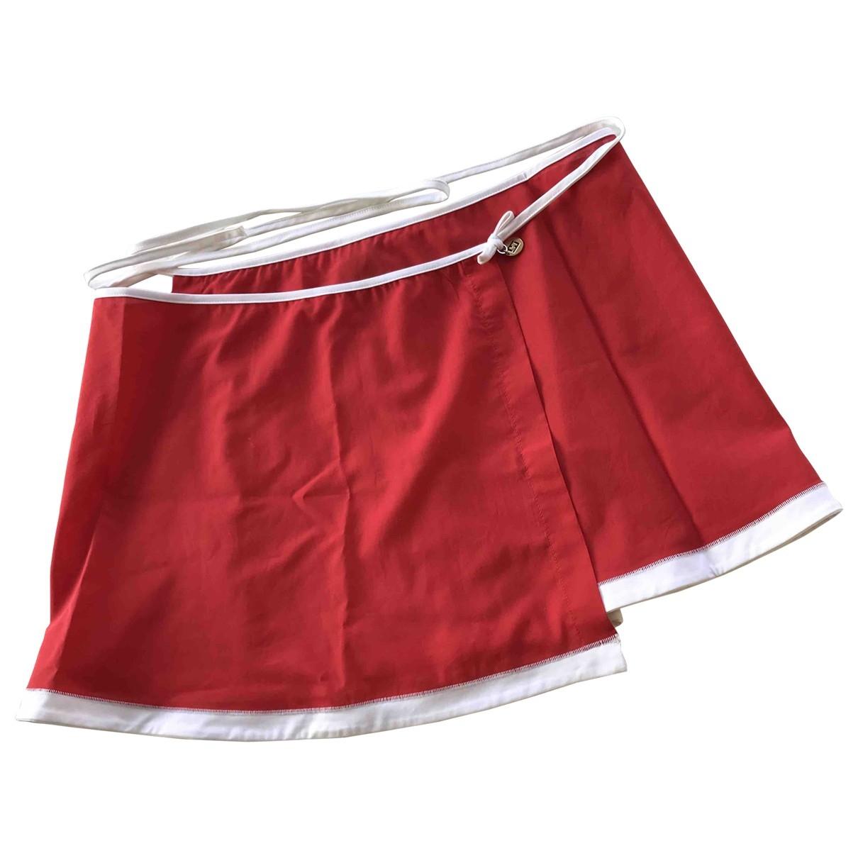Fendi \N Badeanzug in  Rot Baumwolle
