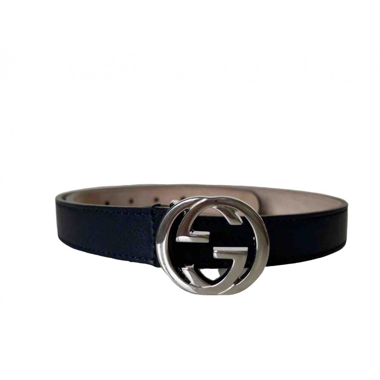 Gucci \N Blue Leather belt.Suspenders for Kids \N