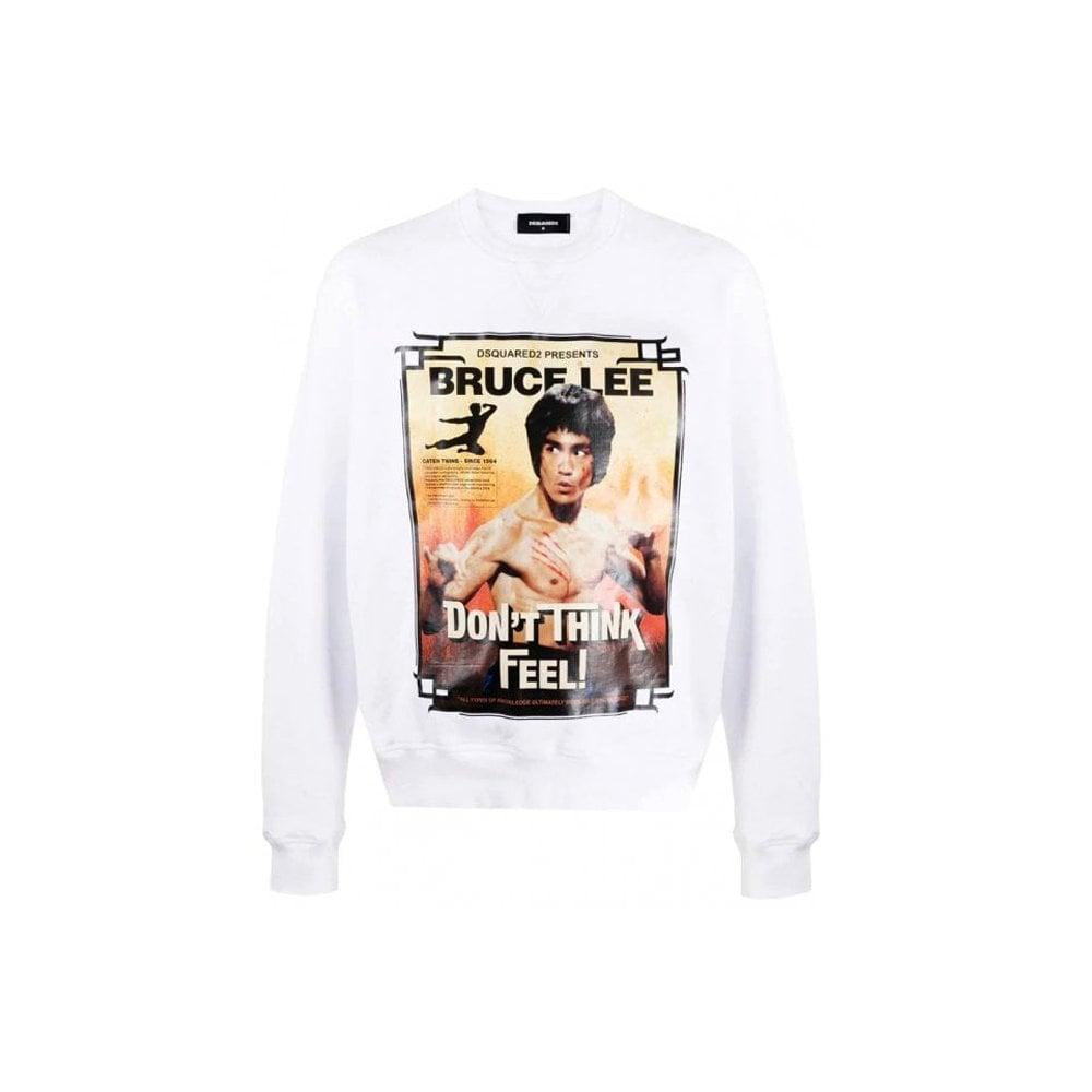 Dsquared2 Graphic Print Sweatshirt Colour: WHITE, Size: SMALL