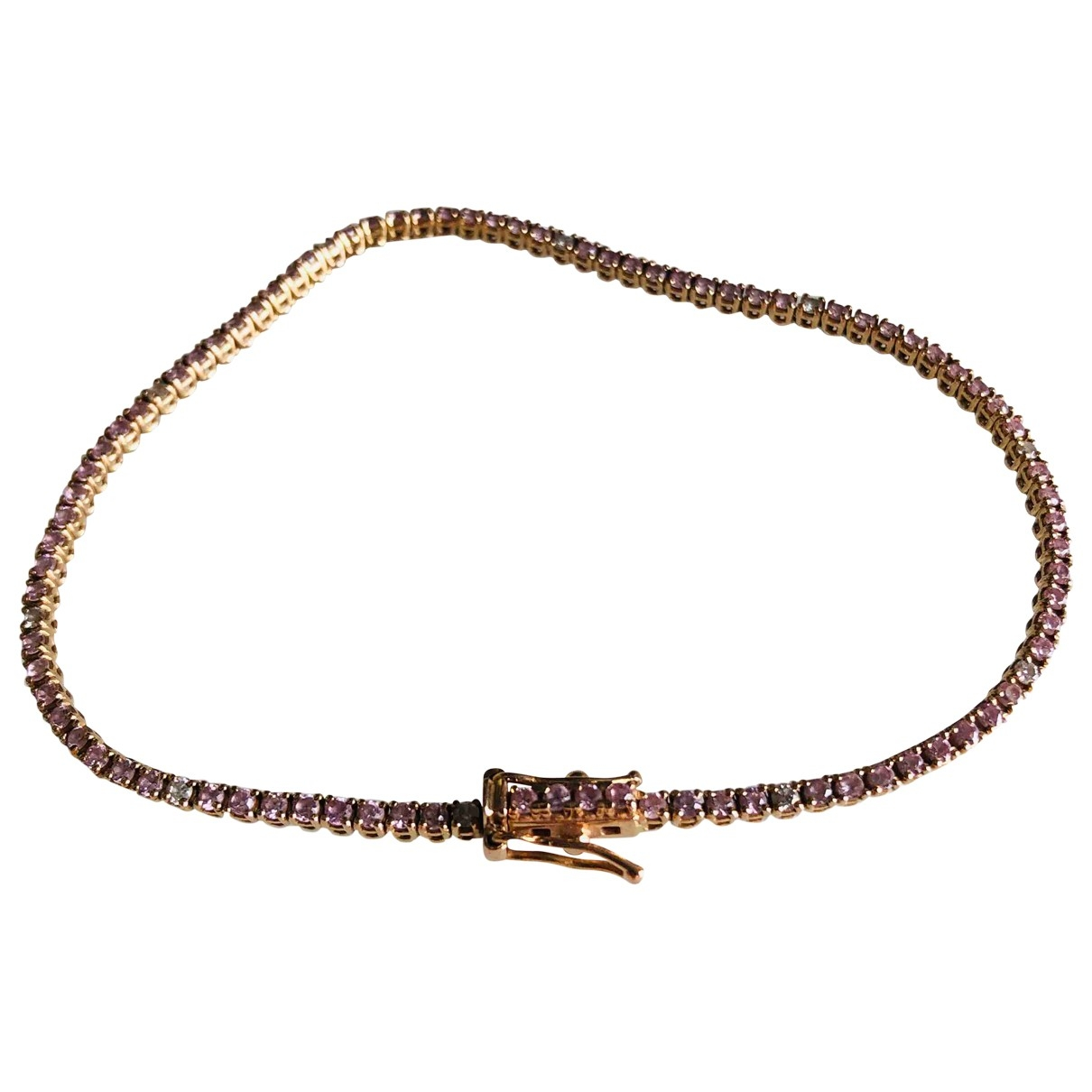 Non Signe / Unsigned Tennis Armband in  Rosa Rosegold