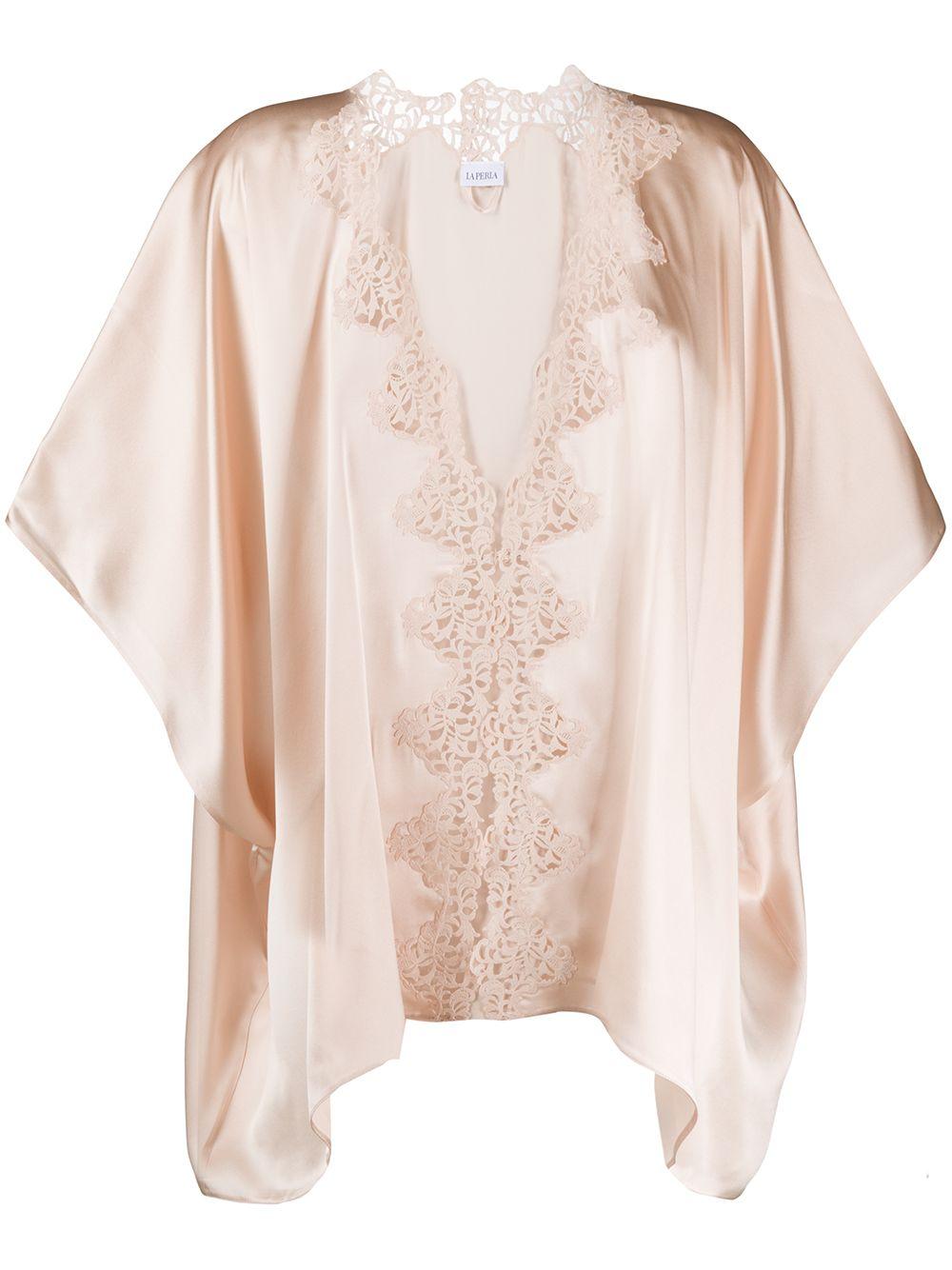 Petit Macrame Silk Night Robe