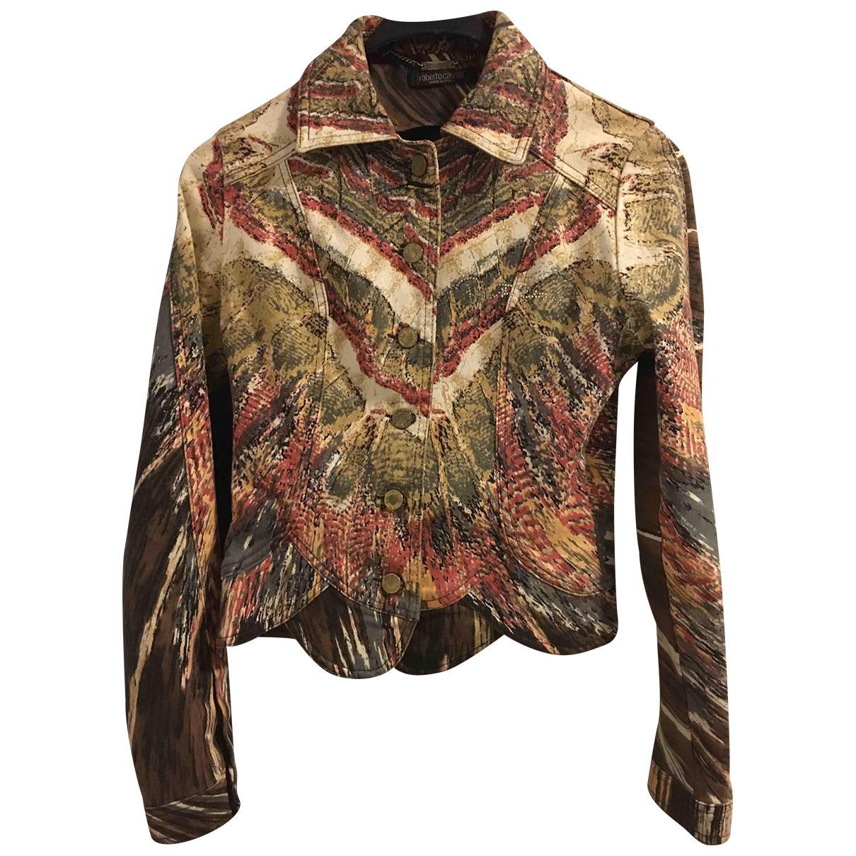 Roberto Cavalli \N Multicolour Cotton jacket for Women XS International