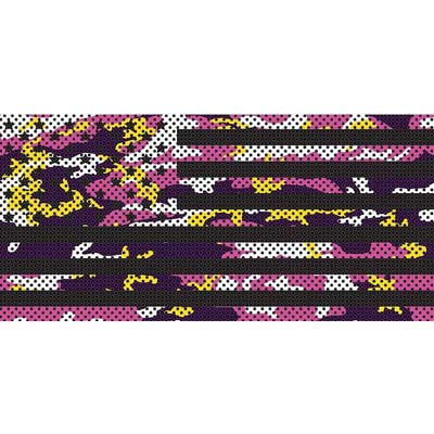 Jeep Wrangler Grill Inserts 07-18 JK Purple, Pink And Yellow Camo Stars And Stripes Under The Sun Inserts INSRT-CAMOPNKYLW-JK
