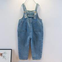 Toddler Boys Pocket Front Denim Overall