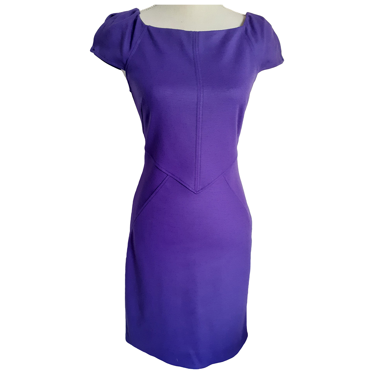 Diane Von Furstenberg N Purple Wool dress for Women 6 US
