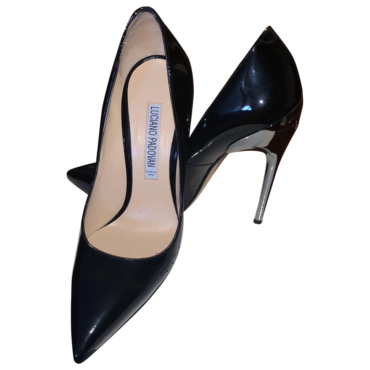 Luciano Padovan \N Black Patent leather Heels for Women 38 EU
