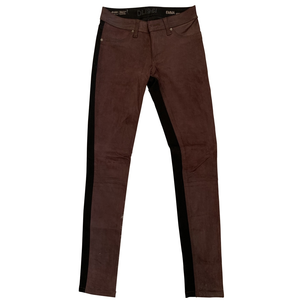 Dl1961 \N Burgundy Suede Trousers for Women 8 UK