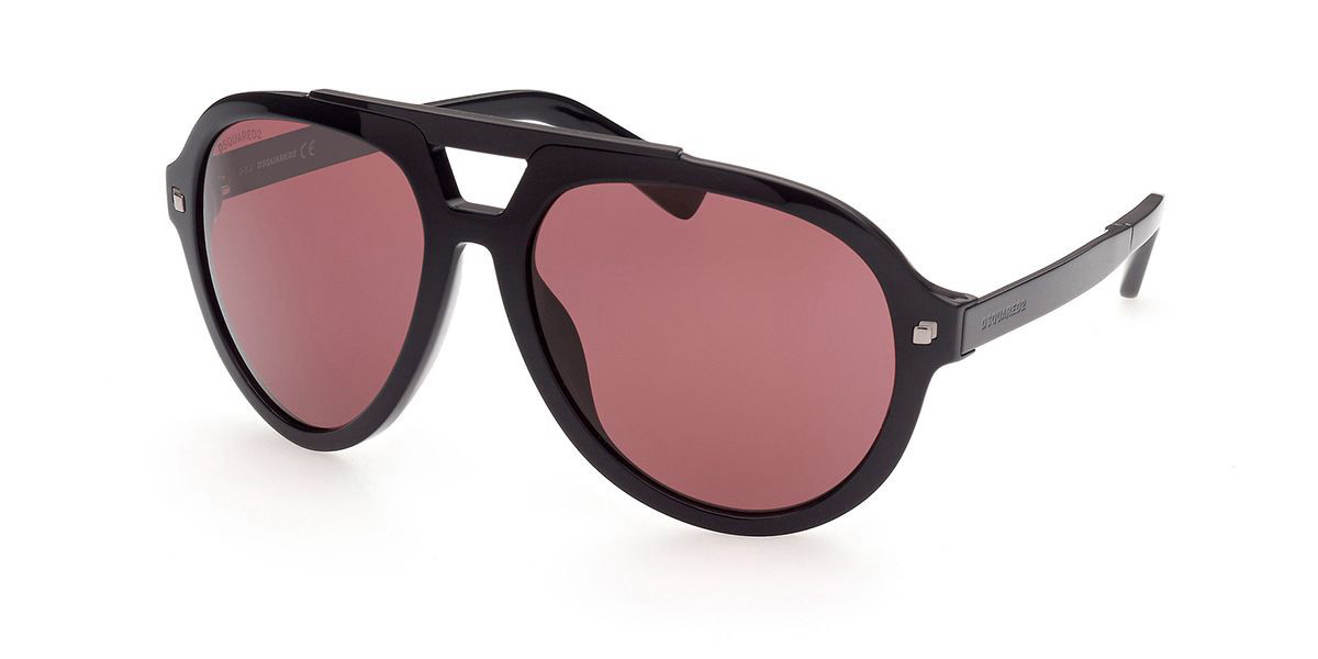 Dsquared2 DQ0372 01E Men's Sunglasses Black Size 62