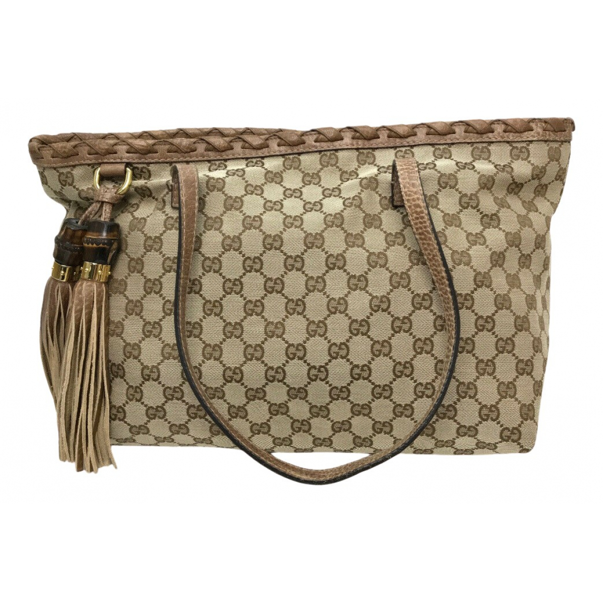Gucci Bamboo Beige Cloth handbag for Women N
