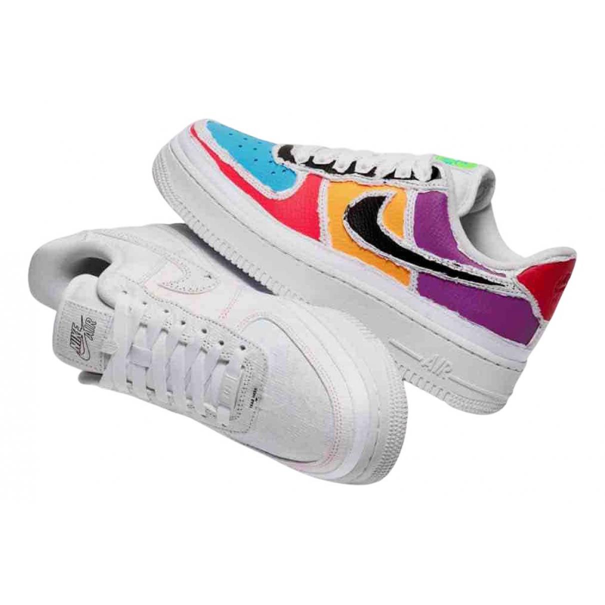 Nike Air Force 1 Sneakers in  Beige Leinen